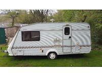 Elddis 2 berth caravan with large end bathroom