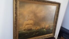 Very large vintage frame