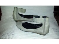 Office Leather ladies shoes Light Grey Size 6