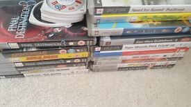 Psp games and dvd vgc most never used