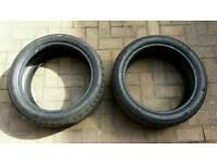 2x Continental Runflat Tyres 205/45/17 6mm tread SportContact3 MINI