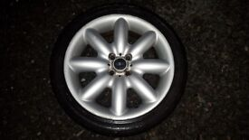 2x BMW Mini Cooper Alloy Wheels - All with tyres - 205 / 40 / 17 84v - 6mm Tread