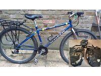 Womens Mountain bike - KONA HAVANA (2x Panniers, Rack, Helmet)
