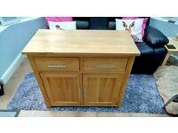 Perfect for Christmas Beautiful Solid Oak Dresser Sideboard Cabinet - 2 Drawers 2 Doors & Shelf