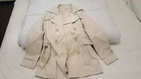 Cream trench coat size8/36