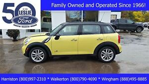 2011 MINI Cooper S Countryman All Wheel Drive | Leather | Moonro