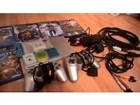 PS2 Slimline with games, memory cards and controllers