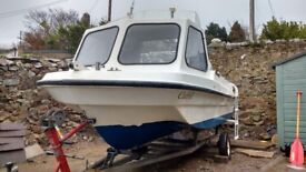 Fishing boat 15ft, Honda 35hp,auxiliary,trailer,accessories