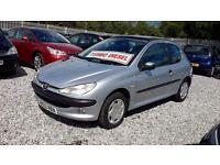 Peugeot 206 Diesel 1398cc, Hatchback, Silver,2002(02) Full Mot