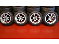 Vauxhall ,Ford,Peugeot,Honda alloy wheels WR Racing 15 + 4 x tyres 185 55 15