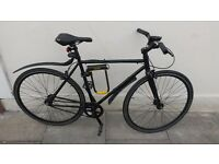 Fixed gear/Fixie/single speed bicycle with D-lock, lights and mudguards