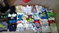 0-3 month baby boy clothing lot