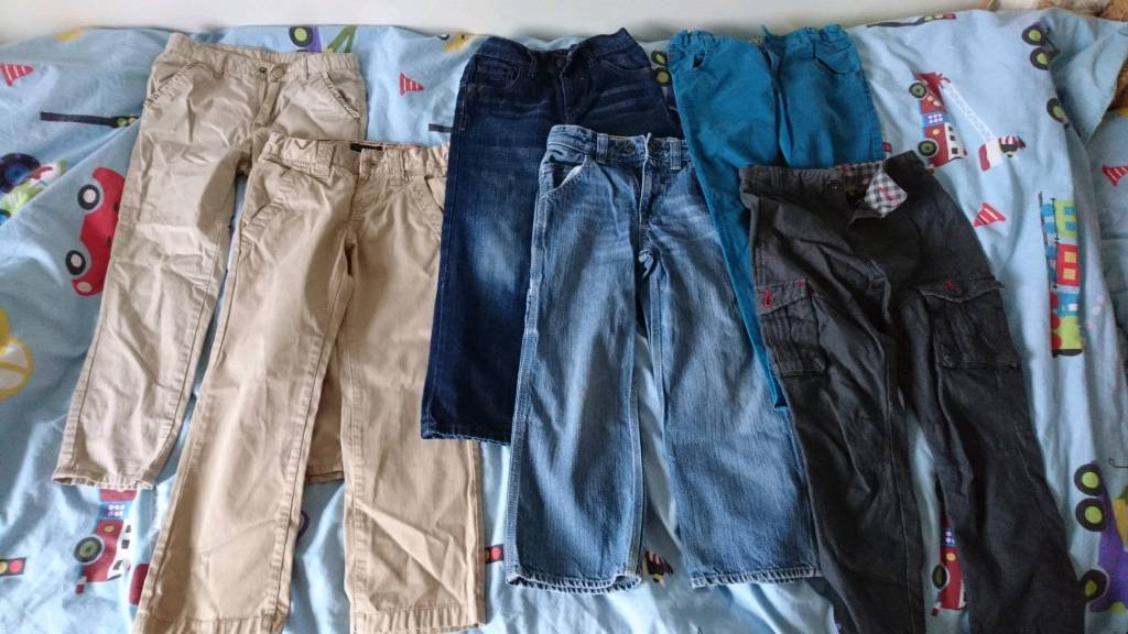 5d9f460e290f 6 pairs age 5-6 boys trousers