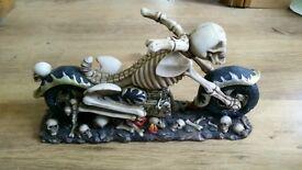 Skeleton biker bottle holder. Harley Suzuki Honda chopper #2