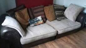 Sofa Brown loads of cushions