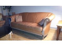 Real luxury Italian leather sofa. Delivery can be arranged