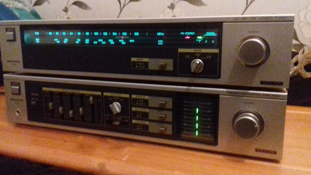 SANYO(Japan) Amplifier+Radio