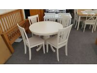 Stamford Extending Dining Table & 4 Chairs Can Deliver