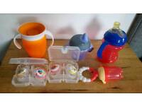 UNUSED Baby cups and dummy bundle