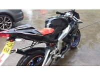 Aprillia RS 125 2008. Unused for 4 years. LowMileage. MOT'D until Nov 2017.