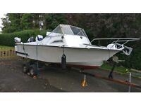 19-foot cabin fishing boat
