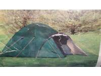 Igloo dome tent with front canopy