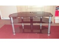 """Black glass tv stand. 3ft 3"""""""