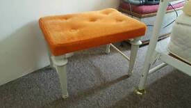 Rectangular footstool ideal for shabby chic project