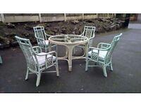 4 SEATS AND TABLE GARDEN SET BAMBOO