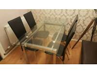 REDUCED - Dining Table and 4 chairs