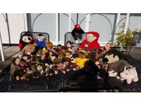 ABSOLUTE BARGAIN - ALL NEW ! ASSORTED COLLECTION OF 80 CUDDLY TOYS