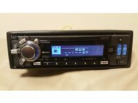 CAR HEAD UNIT CLARION CD MP3 PLAYER WITH AUX AND RCA PRE OUT LCD 4 x 52 WATT STEREO AMPLIFIER AMP