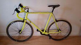 Eyecatching Luminous Yellow Single Speed Bike