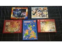 Collection of 5 Jigsaw Puzzles - Price for all 5
