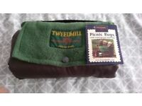 Brand new/ unused Tweedmill branded waterproof picnic rug