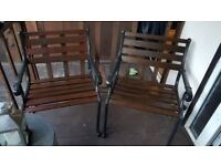 wrought iron garden chairs for sale good condition very heavy £50