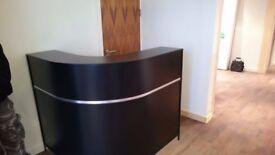 Reception Desk in Black Matt/Ref: 0707