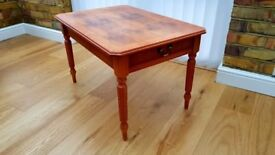 Reproduction Yew Finish 2 Drawer Coffee Table in good condition