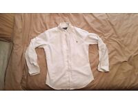 Men's White Ralph Lauren Slim Fit Shirt