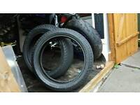 R6 rear tyre front tyre brand new