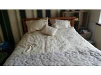 Wooden King size bedframe