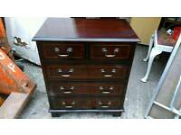 Mahogany 2 over 3 chest of drawers