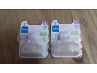Mam baby bottle teats, 2 twin packs size 3