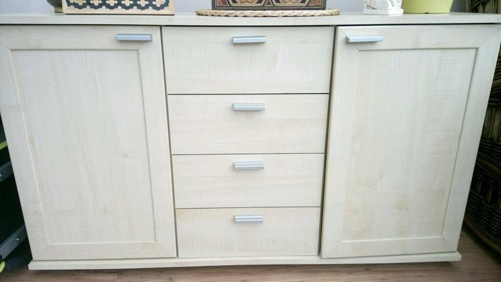 Light wood effect sideboard