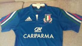 Adidas Italian Short Sleeved Small Adults Rugby Shirt In brilliant, new condition.