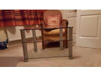 Clear Glass TV Table FREE FREE