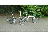 Folding Tern c7 Link , folding bikes similar to Brompton. Two available and accesories!