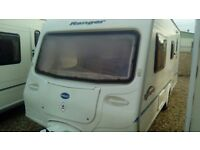 Bailey ranger 510/4 with awning touring caravan