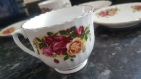 NEW Like ( 0) Settings TIENSHAN 5 Tea cup & Saucer Set