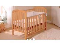 Elegant East Coast Anna DROPSIDE BABY COT IN SOLID PINE + MATTRESS + DELIVERY